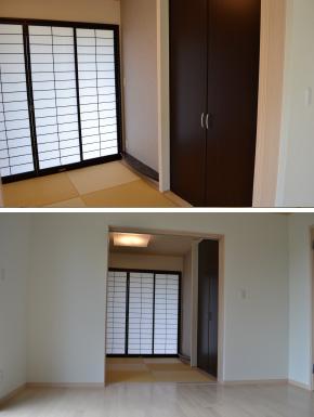 室内リフォームで狭い和室にアクセント床の間を
