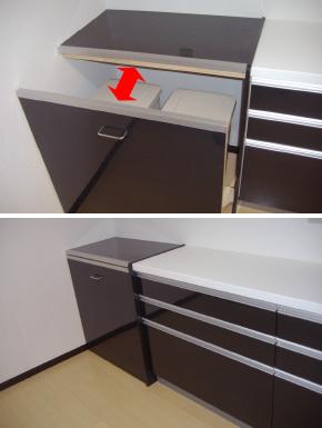 キッチンのリフォームの時「ゴミ箱」の置き場所に困ったのでキッチンと一体化