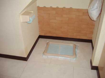 室内リフォームでワンちゃん専用トイレ